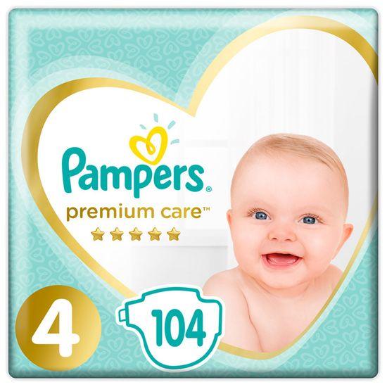Подгузники Pampers Premium Care, размер 4, 9-14 кг, 104 шт, арт. 4015400465447