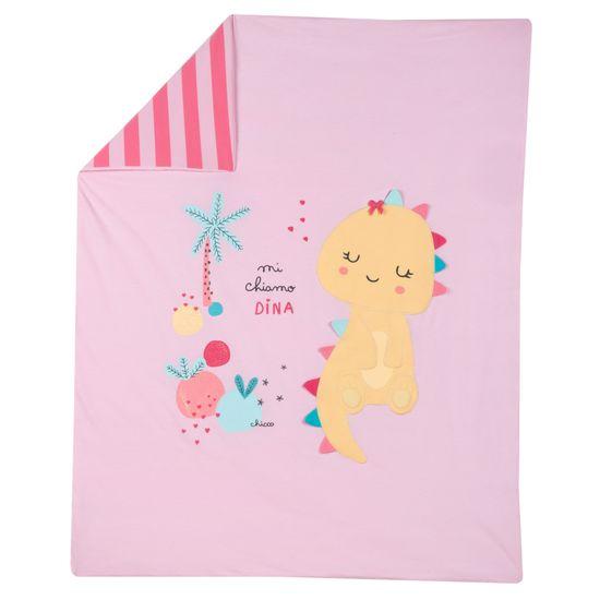 Одеяло Chicco Fun dinosaur, арт. 090.05172.015, цвет Розовый