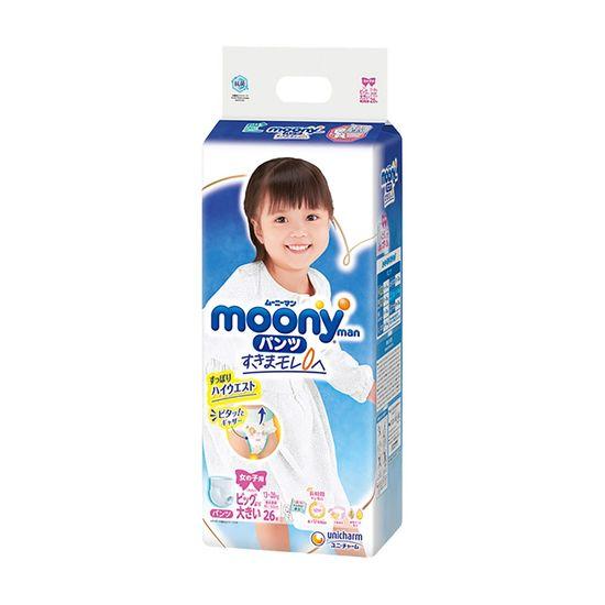Подгузники-трусики Moony для девочки, размер XXL, 13-28 кг, 26 шт, арт. 4903111211654