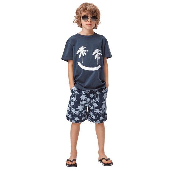 Шорты Molo Acton Summernight palmtree, арт. 1S21H119.6300, цвет Синий