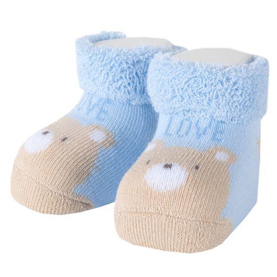 Носки-пинетки Chicco Little koala, арт. 091.01332.021, цвет Голубой