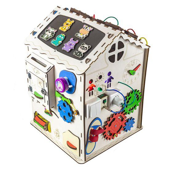 "Бизиборд GoodPlay ""Домик"", 35х35х50 см, с подсветкой, арт. B009"