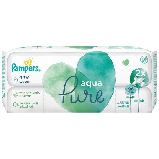 Детские влажные салфетки Pampers Aqua Pure, 2 уп.x48 шт, арт. 8001090603357