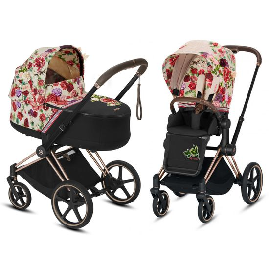 Коляска 2 в 1 Cybex Priam Lux Spring Blossom (Light), арт. k.519003981.03