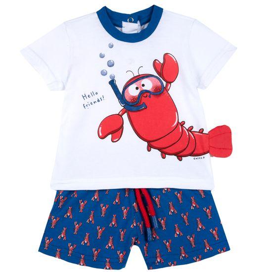 Костюм Chicco Cool lobster: футболка и шорты, арт. 090.76626.038, цвет Голубой