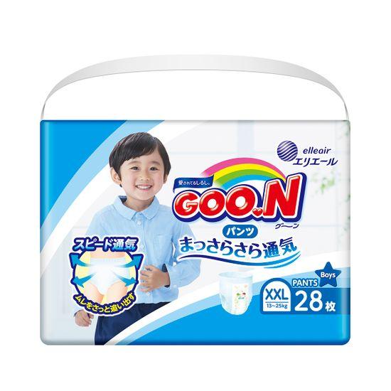 Подгузники-трусики Goo.N для мальчика, размер XXL, 13-25 кг, 28 шт , арт. 853884