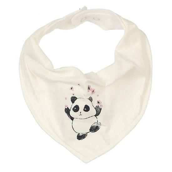 Слюнявчик Name it Funny panda, арт. 201.13173683.SWHI, цвет Белый