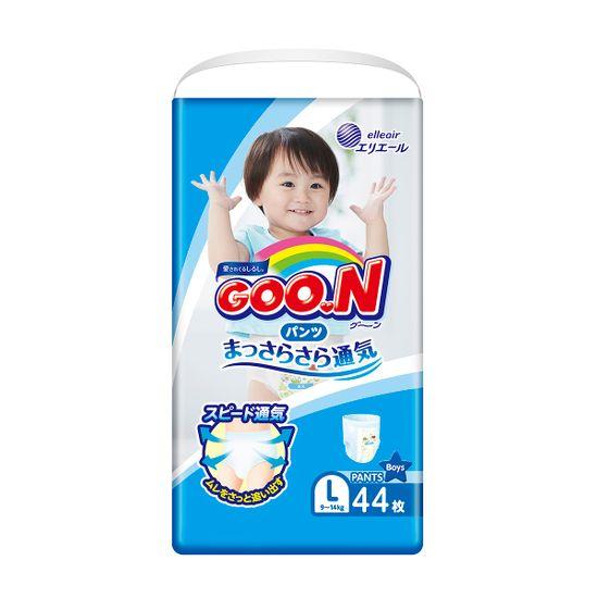 Подгузники-трусики Goo.N для мальчика, размер L, 9-14 кг, 44 шт , арт. 853627