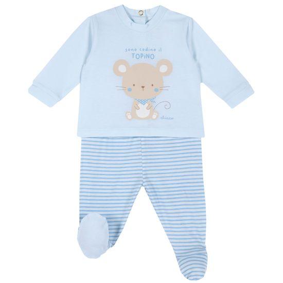 Костюм Chicco Funny mouse: рубашка и ползунки, арт. 090.76946.021, цвет Голубой