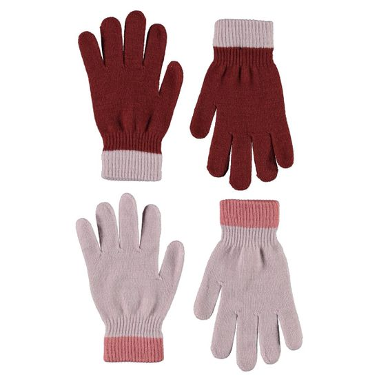 Перчатки (2 пары) Molo Kello Blue Pink, арт. 7W21S205.8333, цвет Бордовый