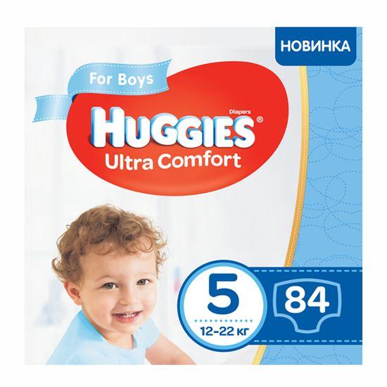 Подгузники Huggies Ultra Comfort для мальчика, размер 5, 12-22 кг, 84 шт, арт. 5029053547855