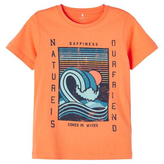 Футболка Name it Naturels, арт. 211.13189539.MELO, цвет Оранжевый