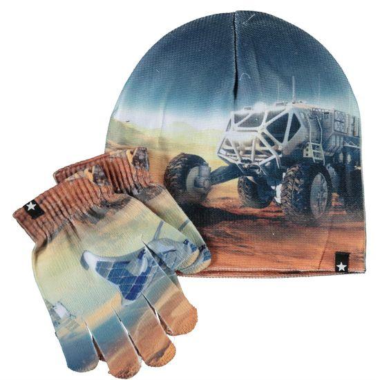 Комплект Molo Mars Zoom: шапка и перчатки, арт. 7W21S901.7487, цвет Синий