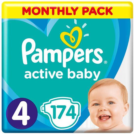 Подгузники Pampers Active Baby, размер 4, 9-14 кг, 174 шт, арт. 8001090910820