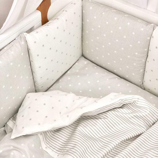 """Комплект постельного белья Piccolino """"Gray stars"""", арт. 111777.03, цвет Серый"""