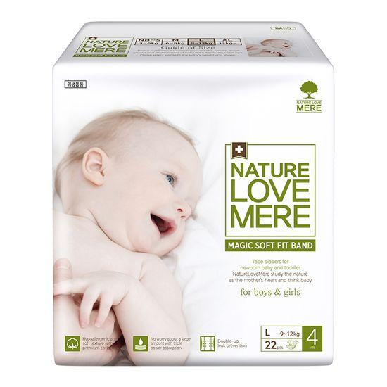 Подгузники Nature Love Mere Magic Soft Fit, размер 4 (L), 9-12 кг, 22 шт, арт. 8809402093670