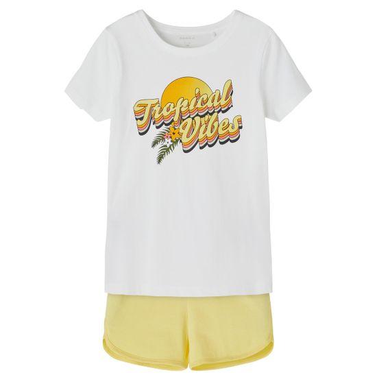 Костюм Name it Tropics white: футболка и шорты, арт. 211.13187733.BWHI, цвет Желтый