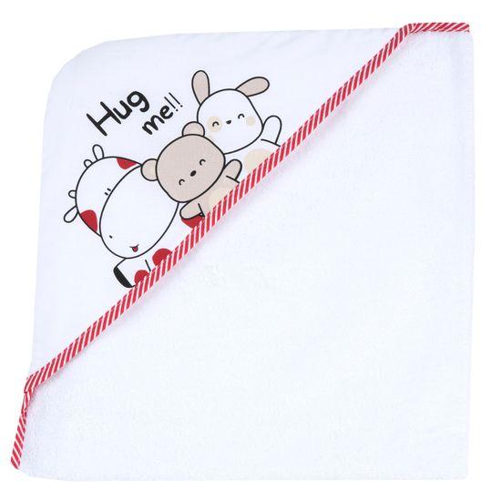 Полотенце Chicco Hug me, арт. 090.40987.033, цвет Белый с красным