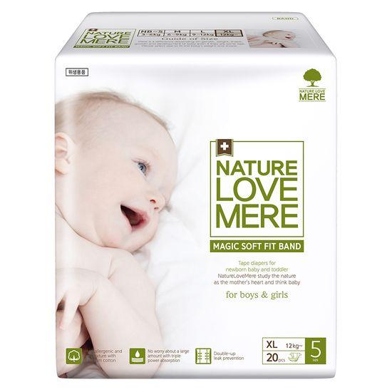 Подгузники Nature Love Mere Magic Soft Fit, размер 5 (XL), от 12 кг, 20 шт, арт. 8809402093687