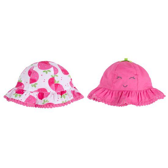 Панамка двухсторонняя Chicco Little strawberry, арт. 090.04793.018, цвет Розовый
