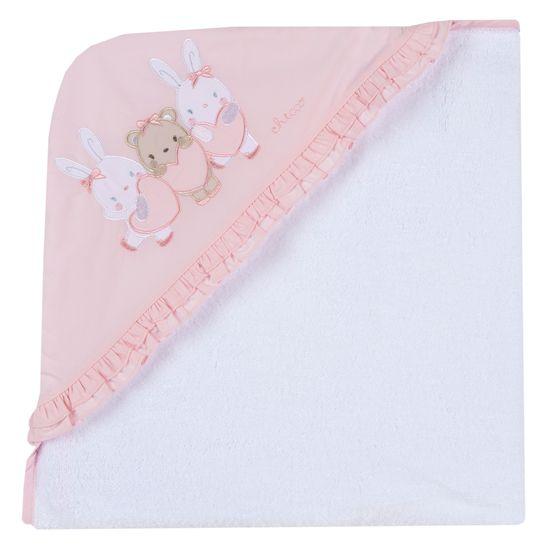 Полотенце Chicco Cute rabbits, арт. 090.40981.033, цвет Розовый