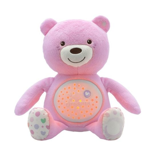 """Игрушка музыкальная Chicco """"Медвежонок"""", арт. 08015, цвет Розовый"""