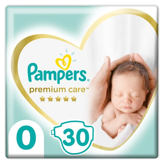 Подгузники Pampers Premium Care, размер 0, до 3 кг, 30 шт, арт. 4015400536857