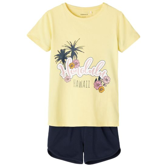Костюм Name it Paradise: футболка и шорты, арт. 211.13187619.POPC, цвет Желтый