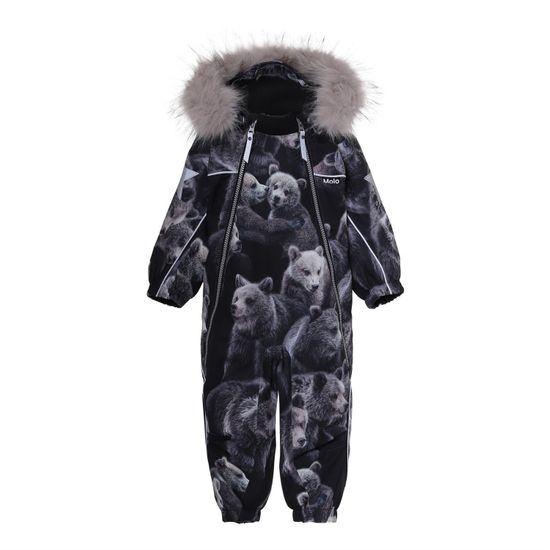 Термокомбинезон Molo Pyxis Fur Teddy, арт. 5W20N102.6135, цвет Черный
