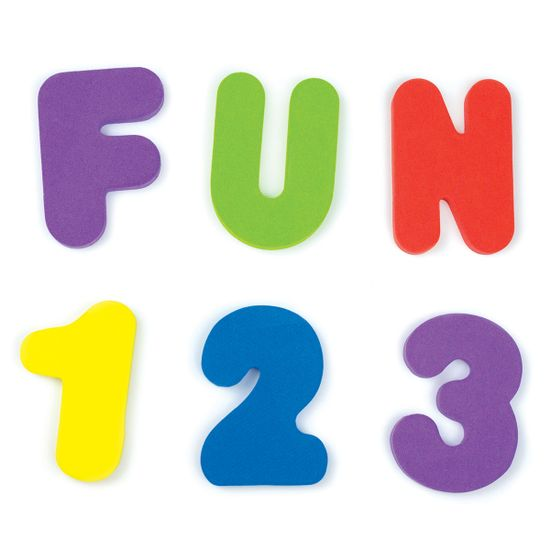 """Игрушка для ванной Munchkin """"Буквы и цифры"""", арт. 01110802, цвет Разноцветный"""