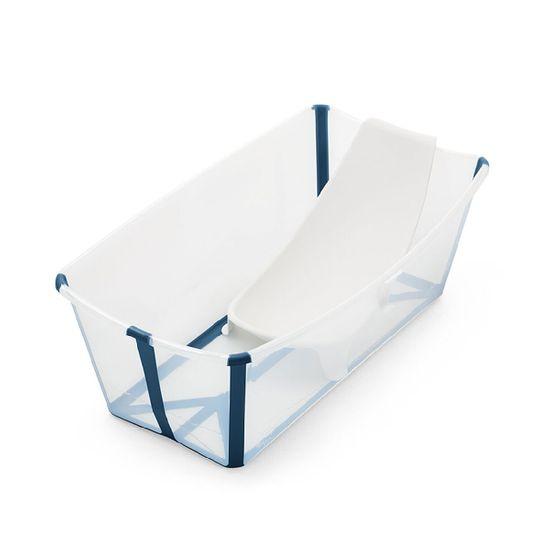 Набор Stokke Flexi Bath: ванночка складная и адаптер, арт. 5315, цвет Голубой