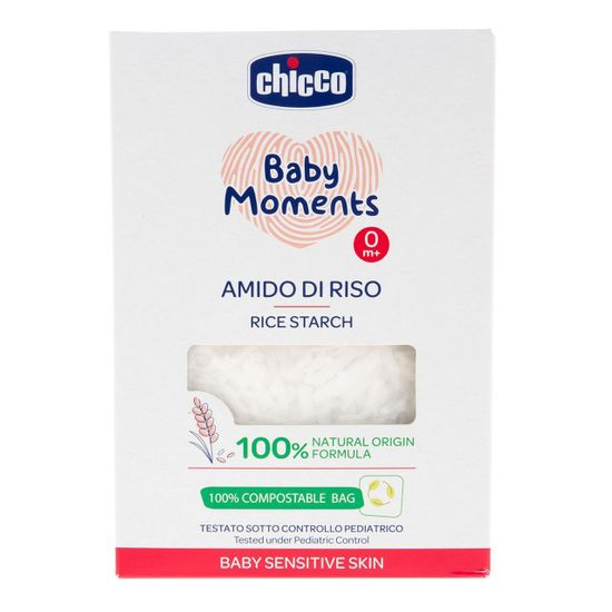 Крахмал рисовый для купания Chicco Baby Moments для чувствительной кожи, 250 г, арт. 10239.00