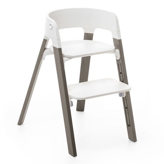 Стульчик Stokke Steps White, арт. 3497, цвет Hazy Grey