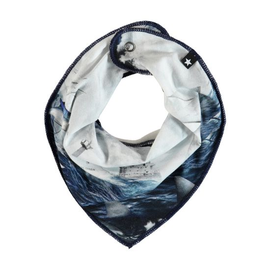 Слюнявчик Molo Nick Sailor Stripe, арт. 7S19T102.4802, цвет Синий