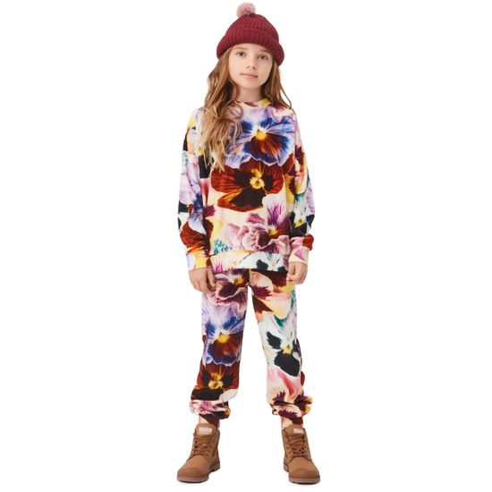 Брюки Molo Amina Floral Velour, арт. 2W21I201.6382, цвет Бордовый