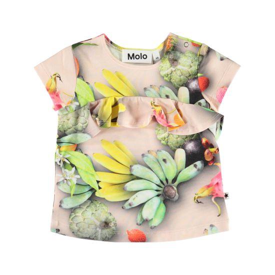Футболка Molo Esmeralda Tutti Frutti, арт. 4S20A203.6046, цвет Зеленый с желтым