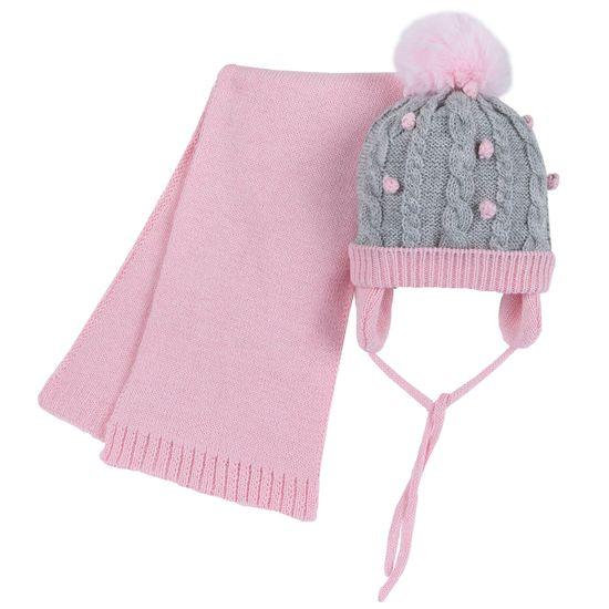 Комплект Chicco Janet: шапка и шарф, арт. 090.04945.010, цвет Розовый