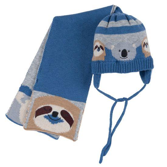 Комплект Chicco William: шапка и шарф, арт. 090.04926.085, цвет Голубой