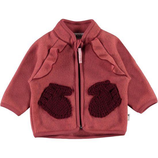 Кардиган флисовый Molo Uli Maple, арт. 5W21L207.8334, цвет Бордовый