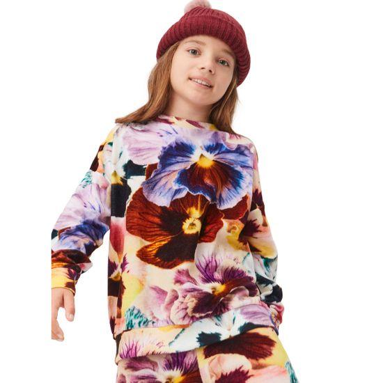 Джемпер Molo Mika Floral Velour, арт. 2W21J201.6382, цвет Бордовый