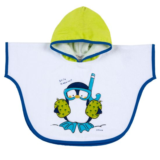 Полотенце-пончо Chicco Jolly penguin , арт. 090.40973.038, цвет Голубой