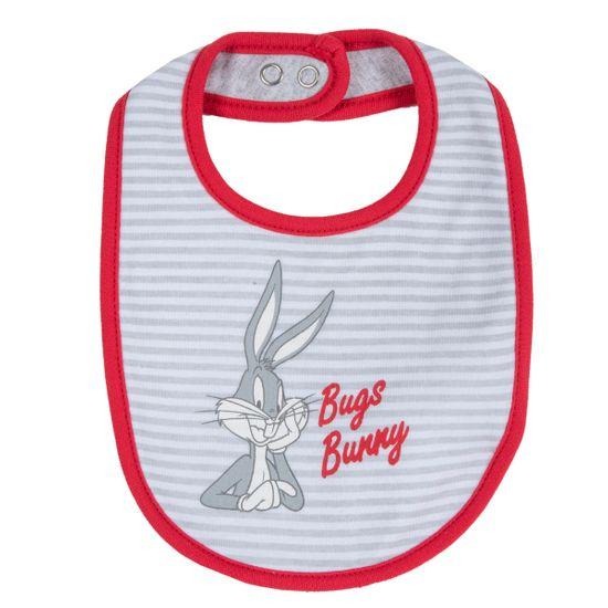 Слюнявчик Chicco Bugs Bunny, арт. 090.32491.091, цвет Серый