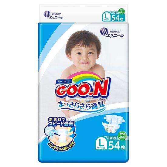 Подгузники Goo.N, размер L, 9-14 кг, 54 шт, арт. 843155