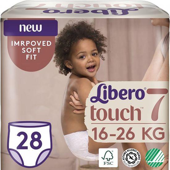 Подгузники-трусики Libero Touch, размер 7, 16-26 кг, 28 шт, арт. 8252