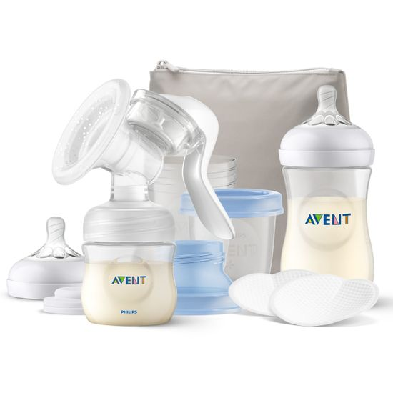 Набор Philips Avent: ручной молокоотсос, бутылочки и контейнеры, арт. 3931099