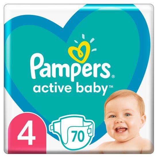 Подгузники Pampers Active Baby, размер 4, 9-14 кг, 70 шт, арт. 8001090948250