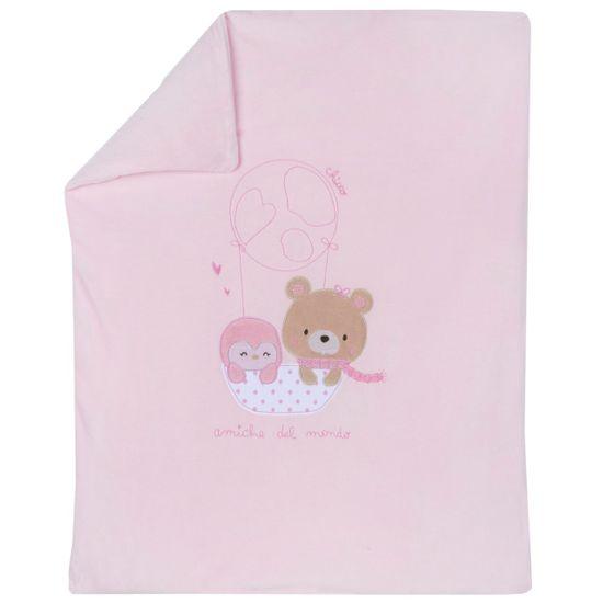 Плед Chicco Amigos bear, арт. 090.05182.011, цвет Розовый
