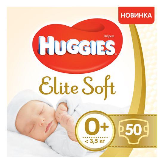 Подгузники Huggies Elite Soft, размер 0+, до 3,5 кг, 50 шт, арт. 5029053548012
