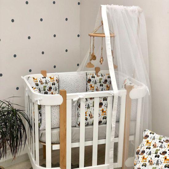 "Балдахин для кроватки-люльки ""Мама Уложила"", арт. 1123, цвет Белый"