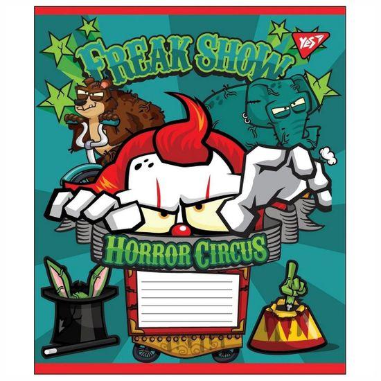 """Тетрадь YES """"Horror circus"""", клетка, А5, 12 л., арт. 764489"""